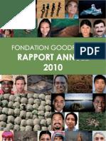 Rapport d'activité 2010 Fondation GoodPlanet