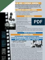Programme Espace Cinéma P. Gnidzaz
