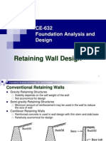 CE 632 Retaining Wall Design Part-1 PPT