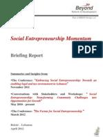 BRD - The Social Entrepreneurship Momentum