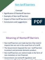 Non Tariff