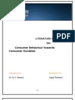 Consumer Perception About Durable Goods Sagar