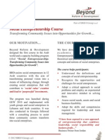 Social Entrepreneurship Course Leaflet