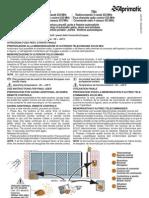 Istruzioni memorizzazione APRIMATIC Tr2