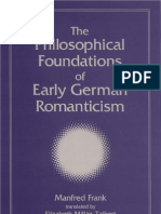 Philosophical Foundations of Early German Romanticism