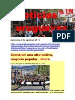 Noticias Uruguayas miércoles 1 de agosto del 2012