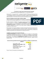 Resultados 3era Encuesta TuVoto2012 NotiCel