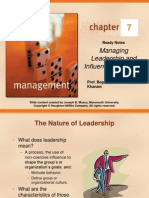 C7 Managing Leadership and Influence Process