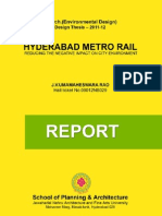 Hyderabad Metro Rail - Reducing the Negative Impact on City Environment - M.arch Thesis Report - J.v.umamAHESWARA RAO - ARCHITECT