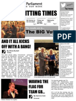 UK Youth Parliament Annual Sitting 2012 Newspaper
