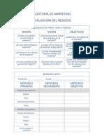 EJEMPLO - CUADRO BASICO DE UNA Auditoria de Marketing