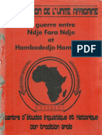 La Guerre Entre Ndje Fara Ndje Et Hambodejo (PAR OUGOUMALA SARE DE NGOUMA)