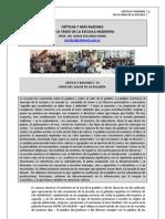 160. CRITICAS Y MÁS RAZONES DE LA CRISIS DE LA ESCUELA