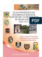 Huancavelica Desarrollo Regional 2004 - 2015