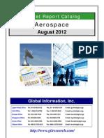 Aerospace Market Report Catalog - August 2012