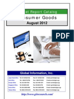 Consumer Market Research Catalog - August 2012