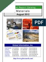 Materials Market Report Catalog - August 2012