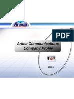 Arima Comm BU3 Profile & Roadmap 3_2008