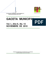 A 10 f I Disposiciones a 14 f VI f XIII Gaceta 13 Noviembre 2010