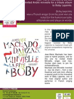"Press release of ""La fête à Boby"" by Jean-Marie Machado (BEE055)"
