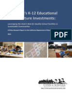 California's K-12 Educational  Infrastructure Needs