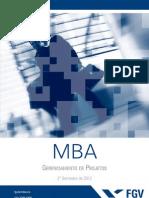 Programa MBA Em Gerenciamento de Projetos 2012.2