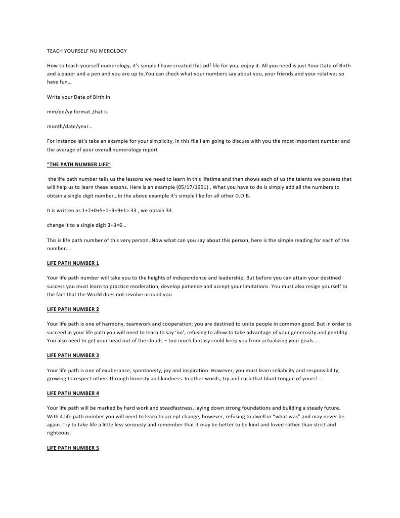 NUMEROLOGY | Psychological Concepts (31 views)