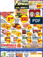 Friedman's Freshmarkets - Weekly Specials - August 9 - August 15, 2012