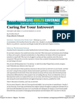 Caring for Your Introvert - Magazine - The Atlantic