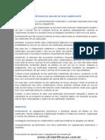 IMPORTÂNICA DA ANÁLISE DE ÓLEO LUBRIFICANTE