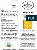McMinnville Aug 12 Menu Flier