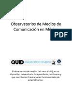 Observatorios de medios en México