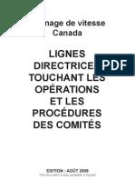 Lignes directrices touchant les opérations et les procédures des comités