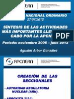 Presentacion Apcnean-sintesis Actividades Desde Dic 2006 Al 27-7-12