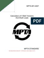 Calculation of v-Belt Tensions