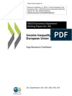 Income Inequality in Europe -Oecd Wp