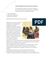 Alternativas Para Prevenir Conflictos en La Escuela