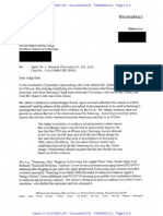 Apple Letter re:Samsung evidence