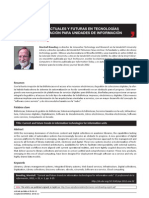 Tendencias actuales y futuras en tecnologías de la información para unidades de información