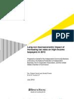 Long-Run Macroeconomic Impact