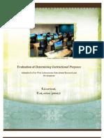 Evaluation of Determining Instructional Purposes