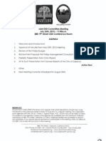DISI Meeting July 26th, 2012 Agenda Packet