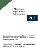 mucoliticos antitussigenos