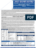 Bluefield Blue Jays Game Notes 8-1