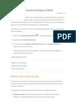 Ayuda con la creación de blogs en Word