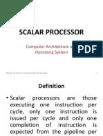 Scalar Processor Report to Print
