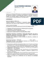 CV - Luis Gutiérrez