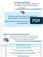 Tipos de Documentos de Archivo y Agrupaciones Documentales