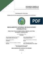 Propuesta de Reglamento General para Elecciones Federativas