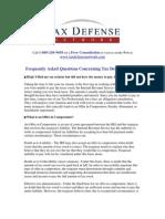 Tax Defense Network FAQ